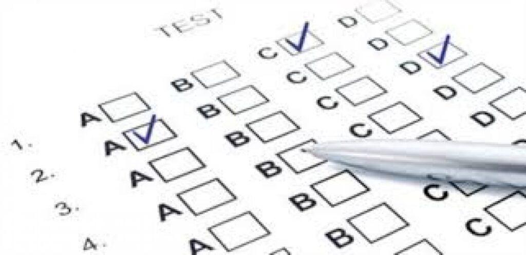 Imagem de um teste de italiano